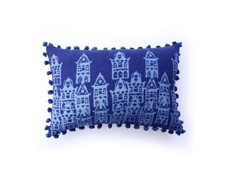 pillows decorative pillow blue pillow bohemian throw indigo home living decor pillow cushion bed toss Pillow covers - AMSTERDAM PILLOW COVER