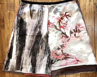 Upcycled tshirt skirt, Upcycled clothing, Eco clothing, Casual skirt, Women's fashion, Repurposed clothing. recycled clothing, tshirts