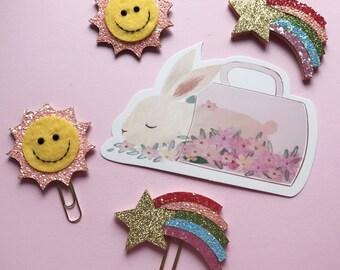 sole & arcobaleno graffette / clip planner