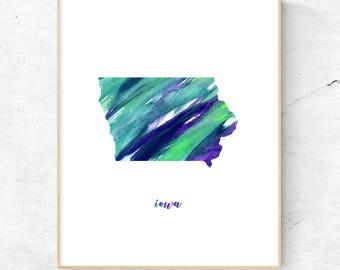 Iowa Art Print