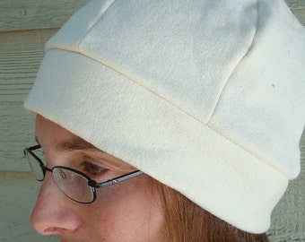 Dyeable Hemp Organic Cotton Fleece Unisex Beanie Hat - 191C