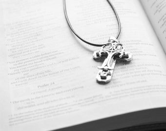 Faith Back and White Bible and Cross Fine Art Photography Wall Art