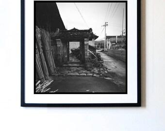 China Black and White print, Xiamen, China wall art, large printable poster digital download, original wall art photograph for home decor.