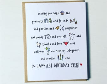 Funny Happy Birthday Card • Cupcake • Birthday Cake • Celebrate • Singing Telegram • Surprises