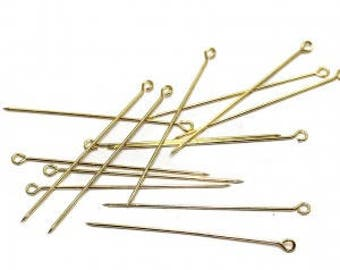 Set of 200 stems look Gold 30mm for making jewelry and accessories