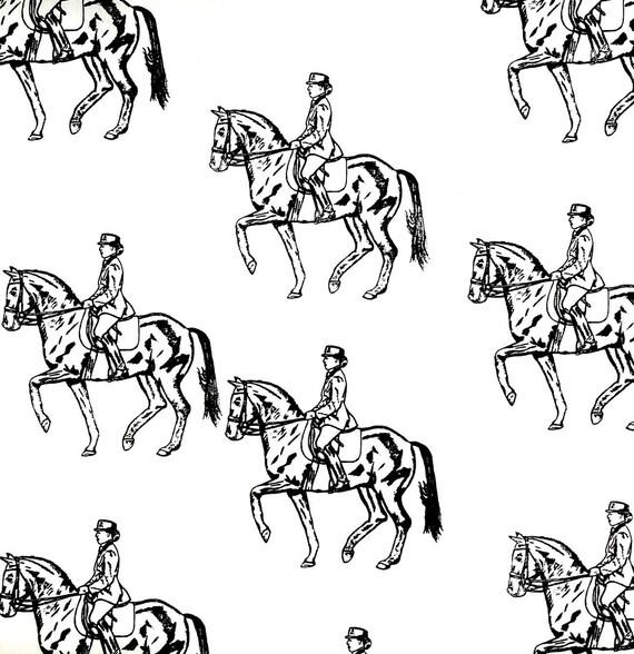 Dressage Horse Fabric BEST All Cotton EverFeels Like