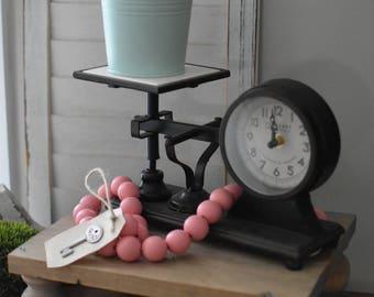 Pink Wood Bead Garland - Light Pink Ball Garland - Key to Decor Beads Pink Garland - Pink Wooden Bead Garland - Pale Pink Ball Garland