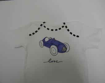 Love Blue Race Car