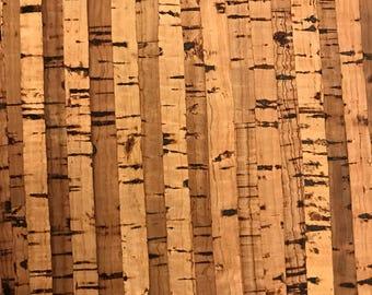 Cork Fabric - Natural Stripes Cork - cork and cloth - Cork