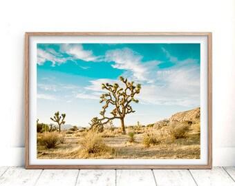 California Desert, Desert Wall Art, Joshua Tree Print, Digital Download, Southwestern Decor, Wild Printable, Boho Print, Sunset Print