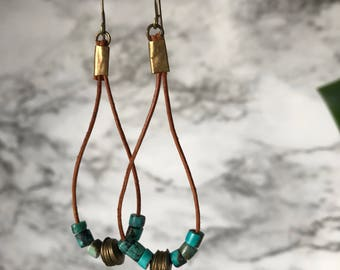 Bohemian earrings, boho jewelry,  ethnic jewelry  african jewelry  tribal jewelry - african earrings - jewelry beaded hoop earrings