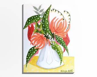 """Small Painting for Flower Lovers, Flowers Art, Original Floral Art, """"Flowers from Anna"""""""