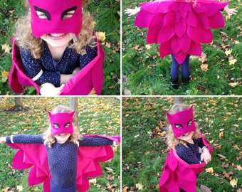 Owlette Wings and Mask: Magical Bird. Available in different colours. Perfect for Dress up, Halloween and as a Birthday gift