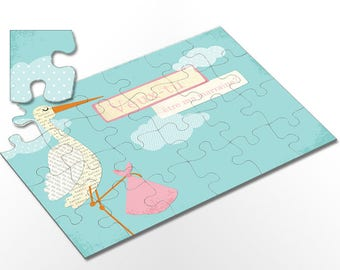 Will request godmother _ PUZZLE you be my godmother? Pink Stork