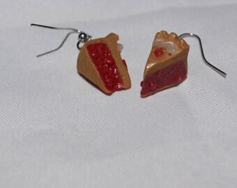 Slice of pie earrings