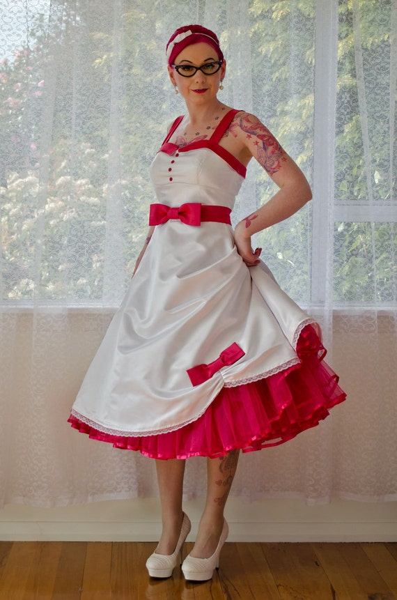 1950s Jacqueline Rockabilly Wedding Dress With