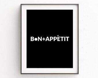 Kitchen Wall Decor, Kitchen Wall Art, Kitchen Art, Printable Wall Art, Typography Print, Black and White Art, Printable Quotes, Wall Art