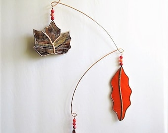 Turning Leaves Stained Glass Sun Catcher