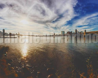 sunset over the Charles River | Boston, MA - FREE SHIPPING!