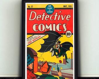 11x17 Detective Comics #27 Comic Book Cover Batman Dark Knight Poster Print