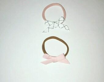 Baby bow headband set