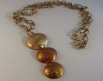 Metal Disc Pendant Necklace