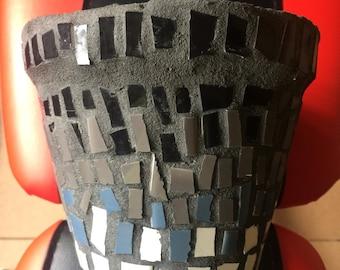 Mosaic ceramic tile pot