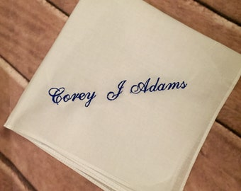 Handkerchief with an added name