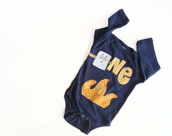 Camping First Birthday One Piece - Smore Marshmallow Campfire Bodysuit