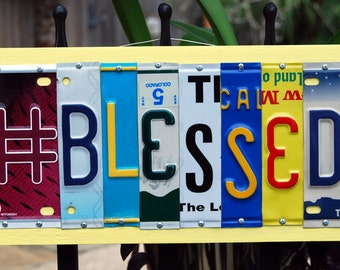 Hashtag License plate sign   #BLESSED