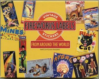 VINTAGE FIREWORKS LABELS, Fireworks Stickers, 4th of July Stickers, Vintage Advertising Stickers - Vintage Advertising, Firework Stickers