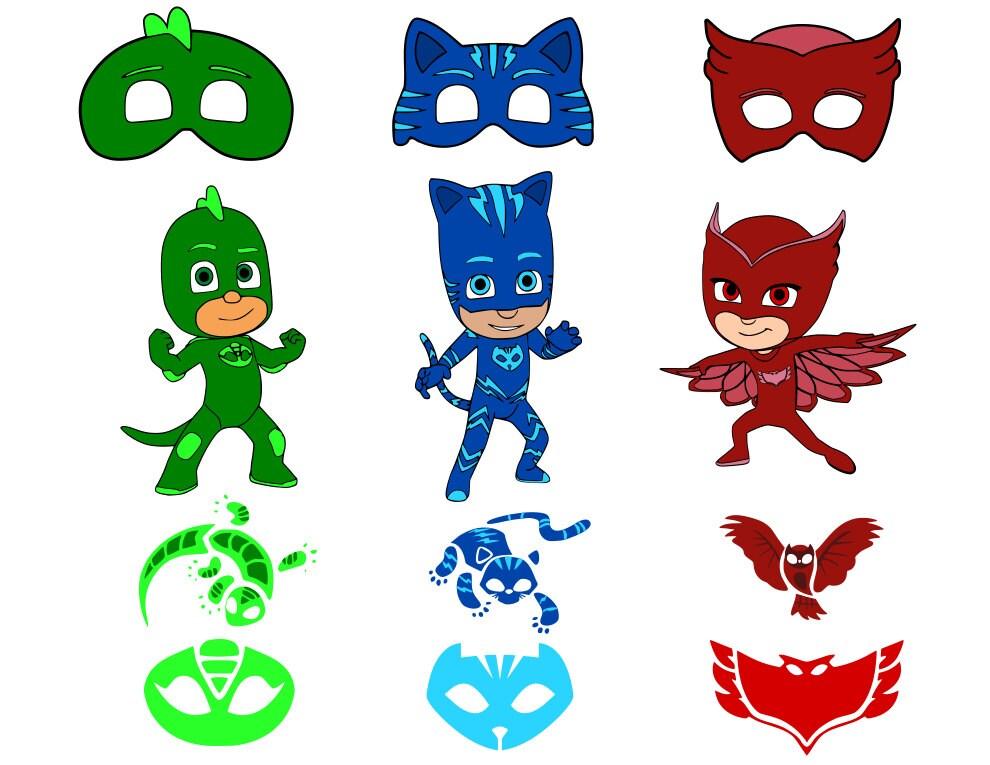 free p j mask clip art