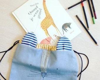 cat children's backpack