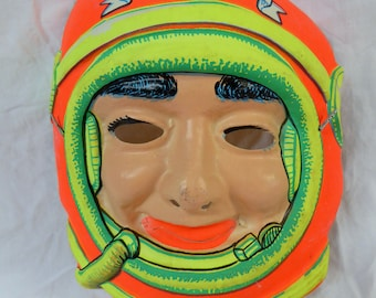 Astronaut Moon Probe Fabric Costume Childs Vintage 1960s with Mask