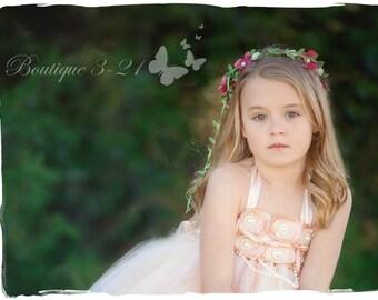 Blush Flower Girl Dress, Blush Tutu Dress, Blush Tulle Dress, Blush Dress, Blush Wedding, Blush, Ivory Flower Girl Dress, Ivory Tutu Dress