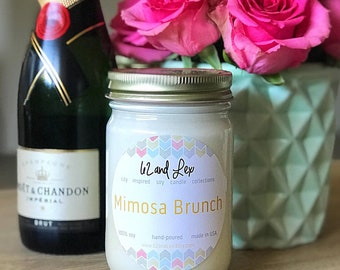 Mimosa Brunch Candle/Candle/Brunch Gift/Mimosa/Brunch and Bubbly/bridal brunch/Boozy Brunch/Scented friend gift/Soy candle/Bridal Shower