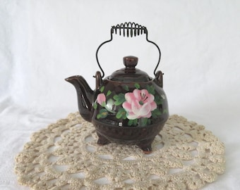 Redware Teapot / Tea Kettle