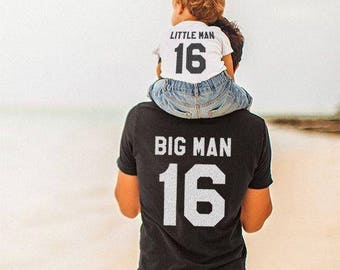 Big man Little man,  dad and baby matching shirts, father and son clothes, family shirts, 100% cotton Tee, Fathers day gift