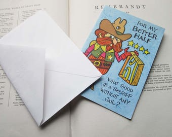 Vintage Booklet Birthday Card, Vintage American Greetings, Retro Cartoons, 1960's illustrations, Drawings, Greeting Card, Multi Page Card