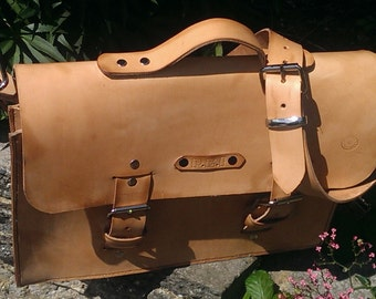 Handmade  leather Laptop/Briefcase  Bag