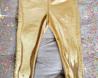 Gold Leggings! For Baby/Toddler/ Little and Big Girls!!