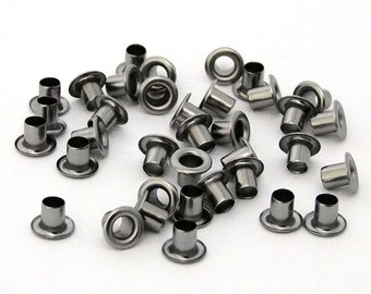 3/16 Inch Diameter Gunmetal Plated Eyelets Package of 36