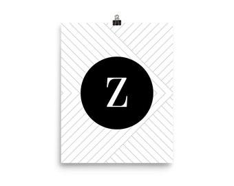 Santorini Collection Z print