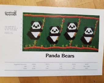 Panda Bears smocking design plate by Creative Keepsakes