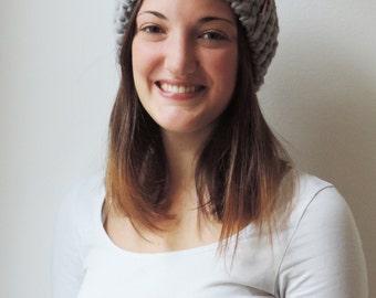 Headband SARAH in Grey | Knit Earwarmer | Chunky Knit