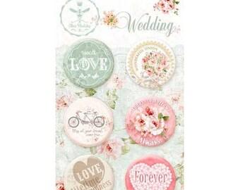 Flair buttons scrapbooking WEDDING LOVE