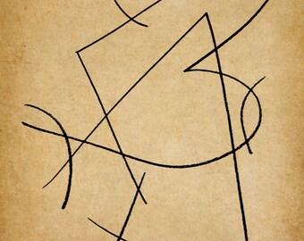 Melange, A Gestural Drawing.