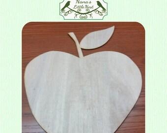 Apple -  (Large ) Wood Cut Out -  Laser Cut