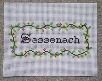 Sassenach Outlander Cross Stitch
