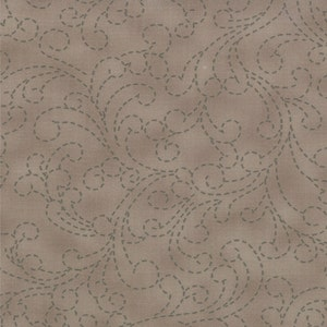 CLEARANCE - Bobbins and Bits by Pat Sloan Stitching Swirls in Nickel for Moda1 Yard Cut